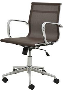 Cadeira Sevilha Eames Baixa Cromada Tela Cafe - 38050 - Sun House