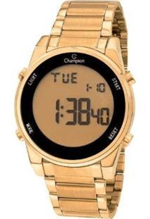Relógio Champion Digital Ch40071G Feminino - Feminino-Dourado