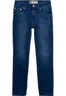 Calça Jeans Levis 512 Slim Taper Infantil - 10001 Azul