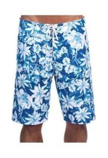 Bermuda Long Island Roses Azul - Masculino-Azul