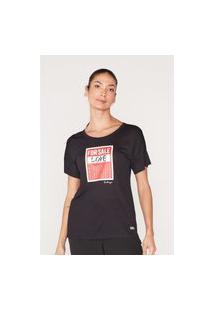 Camiseta Onbongo Feminina Estampada Preta