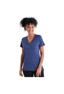Camiseta Gola V Energy - Azul Marinho - Líquido
