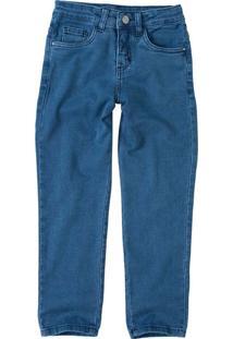 Calça Jeans Tradicional Menino Malwee Kids Azul Claro - 1