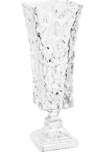 Vaso De Cristal Com Base Ice Rock 42Cm Alt - Unissex