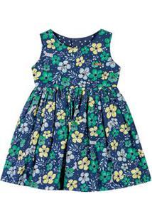 Vestido Dupla Face Marisol Azul Menina Vestido Dupla Face Marisol Azul Bebê Menina