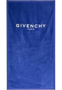 Givenchy Toalha De Banho Com Logo - Azul