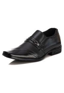 Sapato Social Masculino Liso Bico Quadrado Dia A Dia Estilo Preto 42 Preto