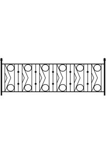 Adesivo De Parede Para Quarto Old Gate Preto 140 Cm