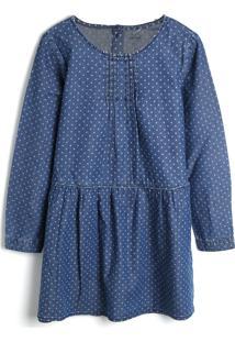 Vestido Tip Top Infantil Bolinhas Azul