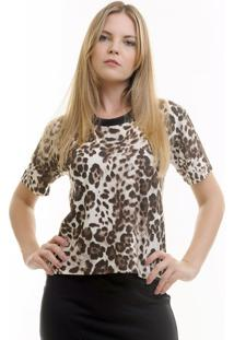 Camiseta Aura Animal Print Onça