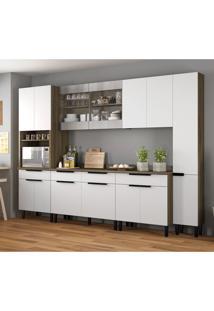 Cozinha Compacta Itamaxi 14 Pt 4 Gv Branca E Castanho