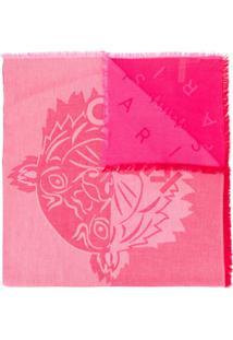 Kenzo Cachecol Com Estampa De Logo - Rosa