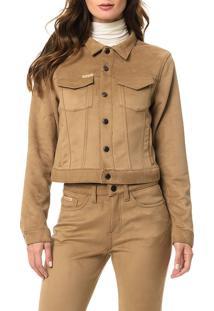 Jaqueta Calvin Klein Jeans Bolsos Caqui Claro - 40