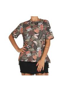 Camiseta Lost Feminina Folhagens
