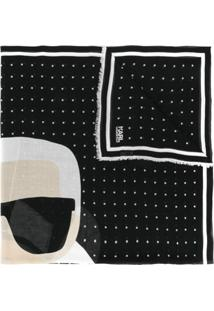 Karl Lagerfeld Cachecol 'K/Ikonik Karl' - Preto