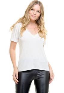 Camiseta Aura Renda Off-White