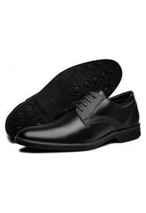 Sapato Social Oxford Bertelli Bico Redondo Comfort Preto