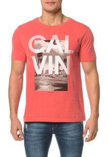 Camiseta Ckj Mc Est Hollywood Calvin - P