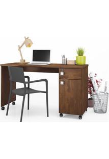 Mesa Para Computador Malta Canela