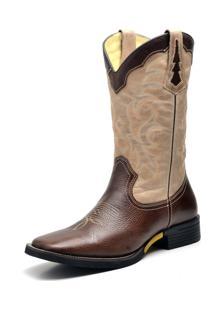 Bota Country Texana Top Franca Shoes Fossil Cafe E Marmore