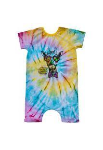 Pijama Curto Comfy Tie Dye Girafa