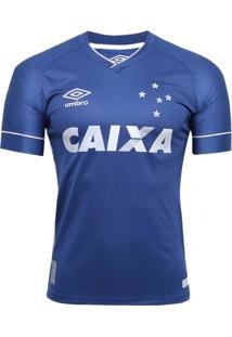 Camisa Juvenil Cruzeiro Umbro Oficial 3 2017/2018 Azul