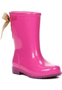 Bota Infantil Para Menina Barbie Galocha Power Fashion Rosa/Roxo