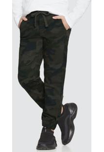 Calça Jeans Com Elastano Verde