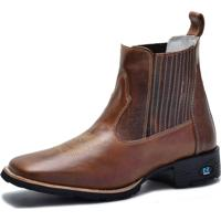 0fd49cf04 Bota Country Over Boots Bico Quadrado Couro Tabaco