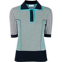 98f14ed4a1 Carven Camisa Polo Com Estampa - Azul