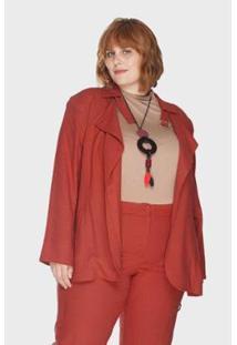 Trench Coat Nilo Caribe Plus Size Passy Feminino - Feminino-Vermelho