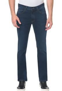 Calça Jeans Slim Straight Marinho - 38