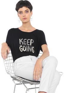 Camiseta Mob Lettering Bordado Preta