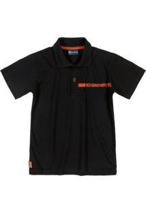 Camisa Polo Manga Curta Preto