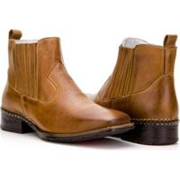 e73bb7751e Bota Texana Country Capelli Boots Em Couro Cano Curto Masculina - Masculino- Marrom Claro