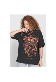 Camiseta Colcci Untamed Preta