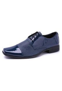 Sapato Social Schiareli 701 Verniz Azul