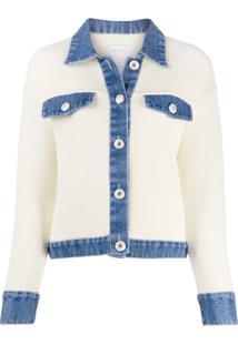 Sandro Paris Nino Knitted Cropped Jacket - Neutro