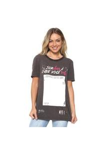 Camiseta My Favorite Thing(S) Estampada Marrom
