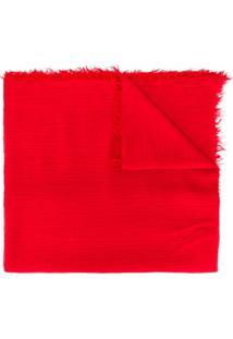 Polo Ralph Lauren Cachecol Com Logo Bordado - Vermelho