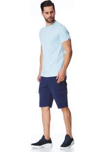 Bermuda Jeans Zait Tradicional Jhonny Azul Marinho