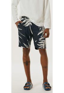 Bermuda Masculina Slim Com Linho E Estampada