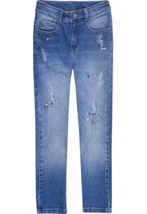 Calça Menino Em Jeans Destroyed