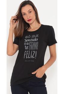 Camiseta Com Inscrições- Preta & Branca- Coca-Colacoca-Cola