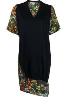Stella Mccartney Vestido Assimétrico Com Recortes - Preto