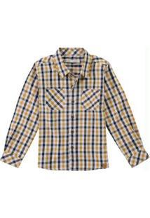 Camisa Amarela Xadrez Tricoline