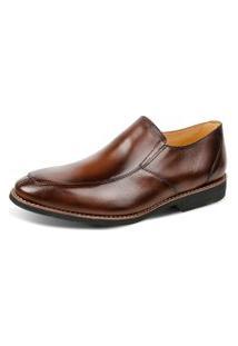 Sapato Linha Premium Side Gore Sandro Moscoloni 16129 Marrom Escuro