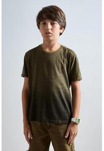 Camiseta Infantil Spray Reserva Mini Masculina - Masculino-Verde
