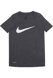 Camiseta Nike Menina Frontal Cinza