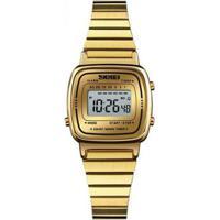 18a43af9601 Relógio Skmei Digital - Feminino-Dourado